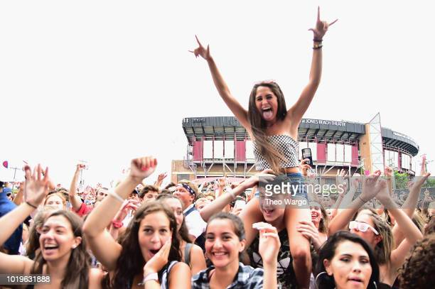 Festivalgoers attend Day 2 of Billboard Hot 100 Festival 2018 at Northwell Health at Jones Beach Theater on August 19 2018 in Wantagh New York