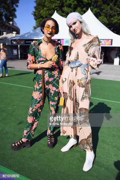 Festivalgoers attend day 2 of FYF Fest 2017 at Exposition Park on July 22 2017 in Los Angeles California
