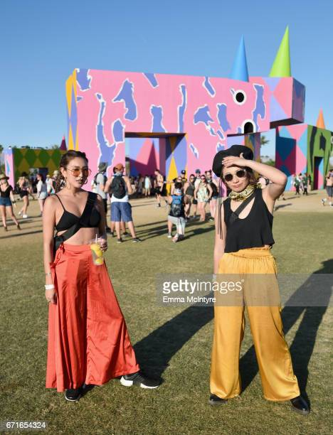 Festivalgoers attend day 2 of the 2017 Coachella Valley Music Arts Festival at the Empire Polo Club on April 22 2017 in Indio California