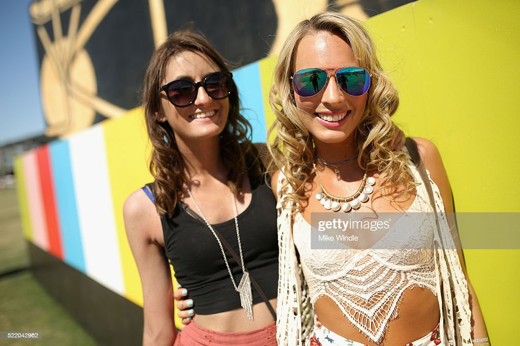 Festival-goers attend day 3 of the 2016 Coachella Valley Music & Arts Festival at the Empire Polo Club on April 17, 2016 in Indio, California.