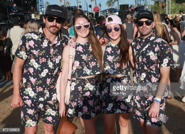 Festivalgoers attend day 3 of the 2017 Coachella Valley Music Arts Festival at the Empire Polo Club on April 23 2017 in Indio California