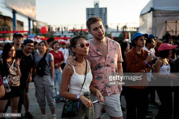 Festivalgoers attend day one of the Maho Rasop Festival 2019 on November 16 2019 in Bangkok Thailand
