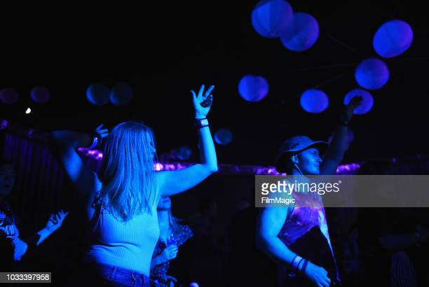 Festivalgoers attend DJ sets at The Break Room during day 1 of Grandoozy on September 14 2018 in Denver Colorado