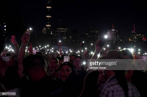 Festivalgoers attend the 2017 Global Citizen Festival in Central Park to End Extreme Poverty by 2030 at Central Park on September 23 2017 in New York...