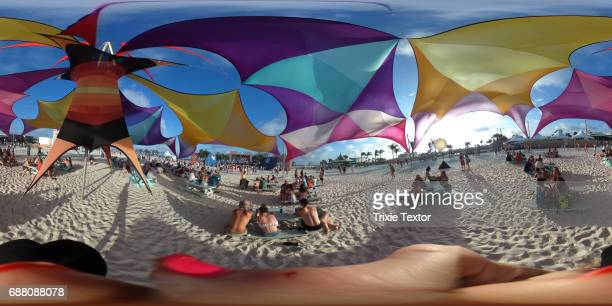 Festivalgoers attend the 2017 Hangout Music Festival on May 19 2017 in Gulf Shores Alabama