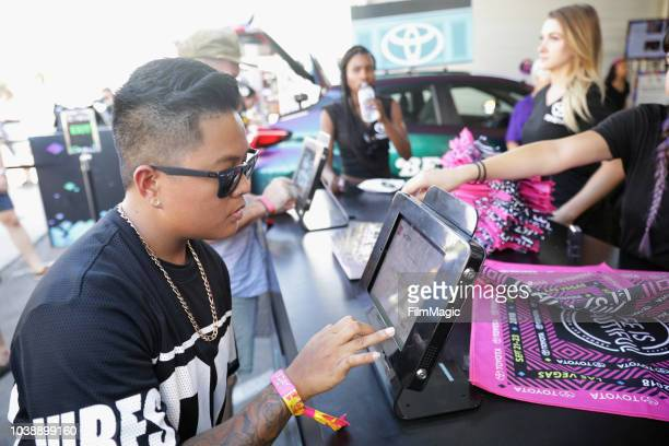 A festivalgoer attends the 2018 Life Is Beautiful Festival on September 23 2018 in Las Vegas Nevada
