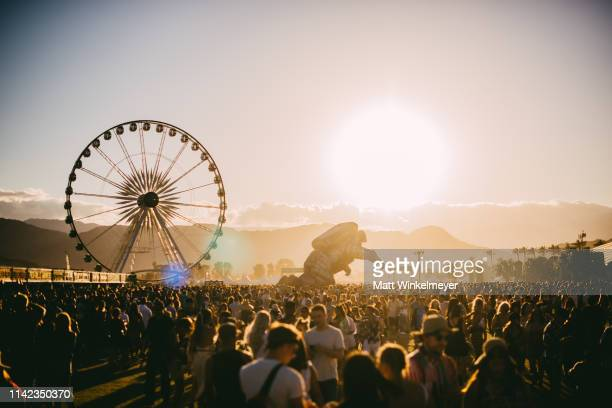 Festivalgoers attend the 2019 Coachella Valley Music And Arts Festival Weekend 1 Day 1 on April 12 2019 in Indio California