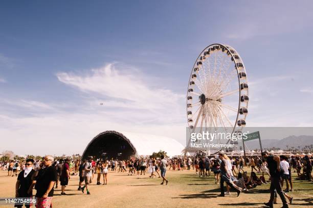 Festivalgoers attend the 2019 Coachella Valley Music and Arts Festival Weekend 1 Day 3 on April 14 2019 in Indio California