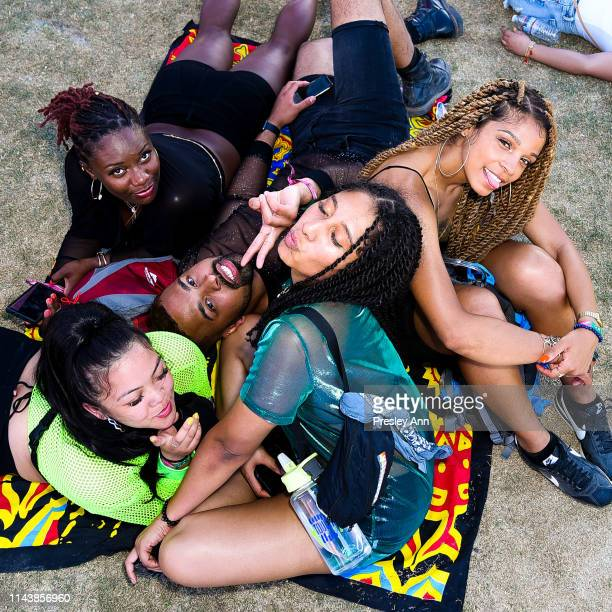 Festivalgoers attend the 2019 Coachella Valley Music And Arts Festival Weekend 2 on April 19 2019 in Indio California