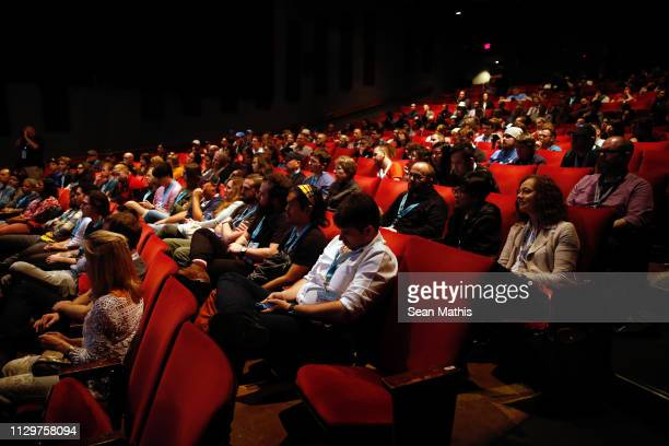 Festivalgoers attend the 'Adopt a Highway' Premiere during the 2019 SXSW Conference and Festivals at Stateside Theater on March 10, 2019 in Austin,...
