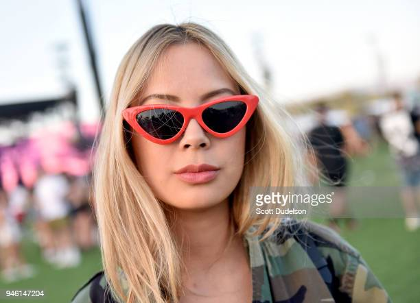 Festivalgoers attend week 1 day 1 of the 2018 Coachella Valley Music and Arts Festival on April 13 2018 in Indio California