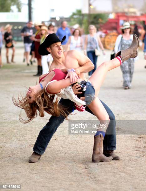 Festivalgoers during day 1 of 2017 Stagecoach California's Country Music Festival at the Empire Polo Club on April 28 2017 in Indio California