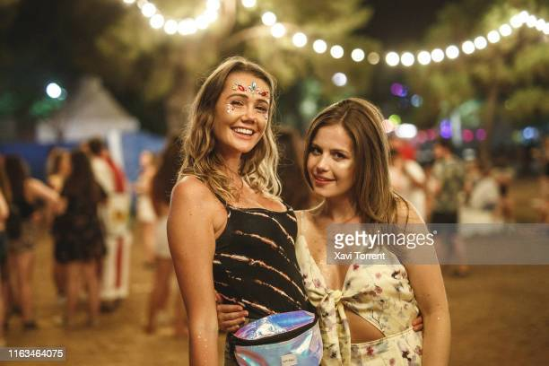 Festival-goers enjoy the Festival Internacional de Benicassim on July 21, 2019 in Benicassim, Spain.