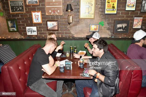 Festivalgoers play trivia during 'The Game of Games It's Always Sunny in Philadelphia Trivia hosted by Jackie Kashian' in Paddy's Pub during...