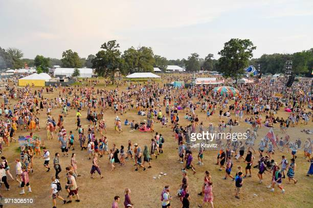 Festivalgoers seen during day 4 of the 2018 Bonnaroo Arts And Music Festival on June 10, 2018 in Manchester, Tennessee.