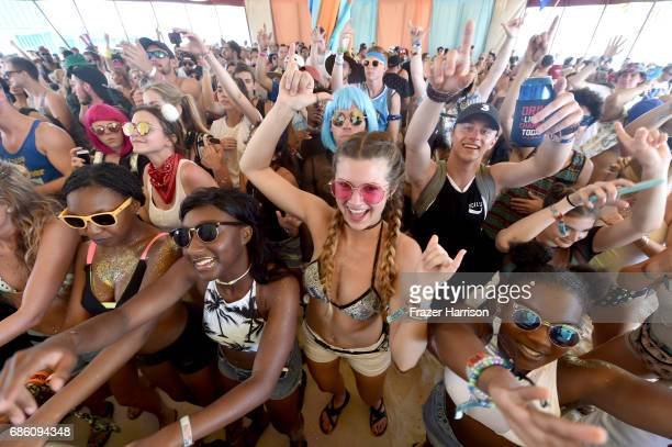Festivalgoers watch Jillionaire perform at the Malibu Beach House during 2017 Hangout Music Festival on May 20 2017 in Gulf Shores Alabama