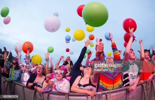 J Willgoose Esq of Public Service Broadcasting performs on day 1 of Bluedot Festival at Jodrell Bank on July 20 2018 in Manchester England