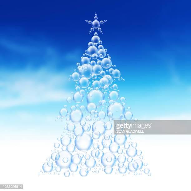 Festive bubble tree illustration