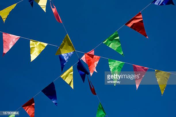festive bunting - fete stock photos and pictures