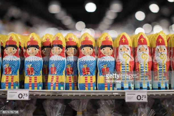 Festive chocolate figurines sit on display inside a Hema BV store in Tilburg Netherlands on Wednesday Oct 4 2017 Privateequity firm Lion Capital LLP...