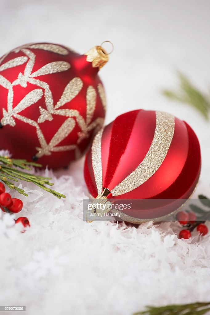 Festive Christmas Decorations : Stock Photo