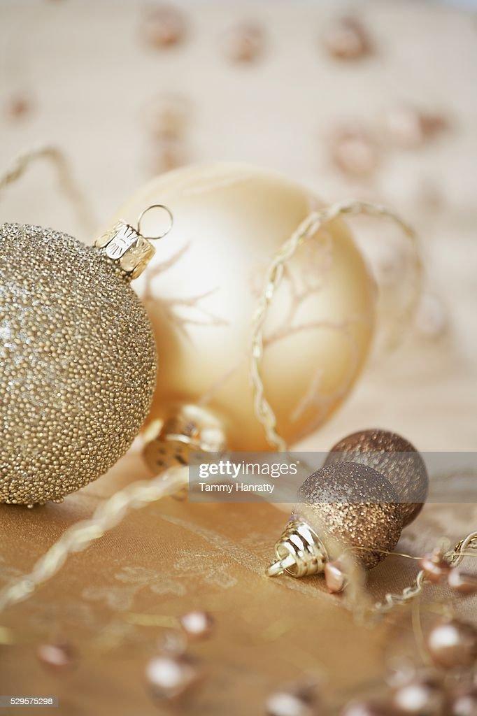 Festive Christmas Decorations : ストックフォト