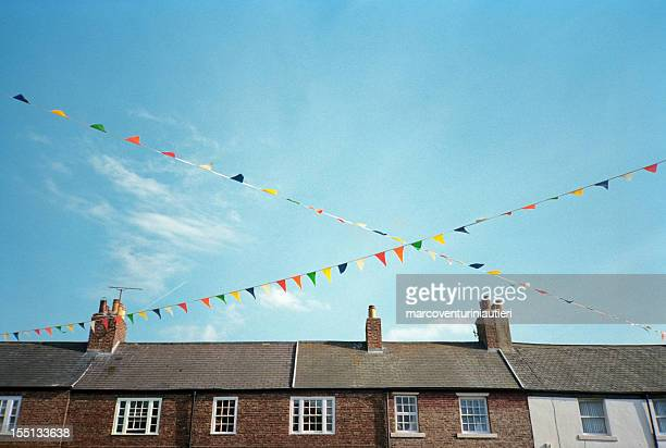 festive colorful pennants - marcoventuriniautieri stock pictures, royalty-free photos & images