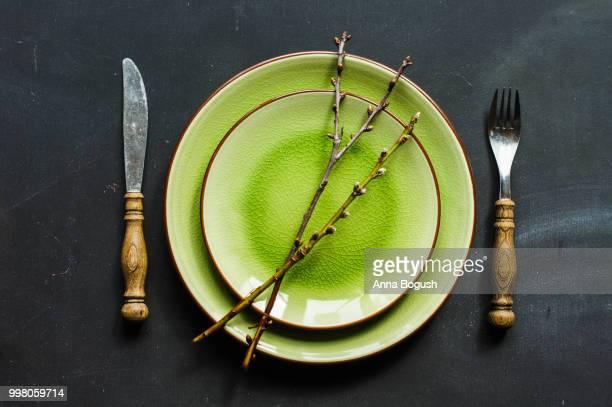 Festive Easter table setting