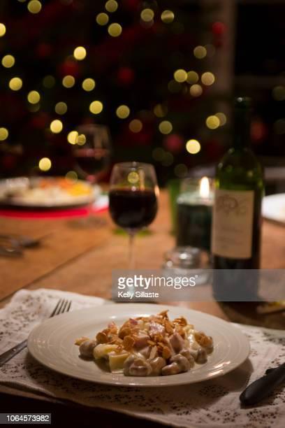 festive french gourmet christmas dinner - evening meal ストックフォトと画像