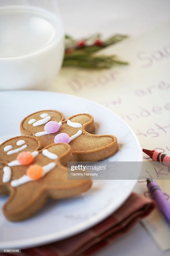 Festive Gingerbread Cookies : Foto de stock
