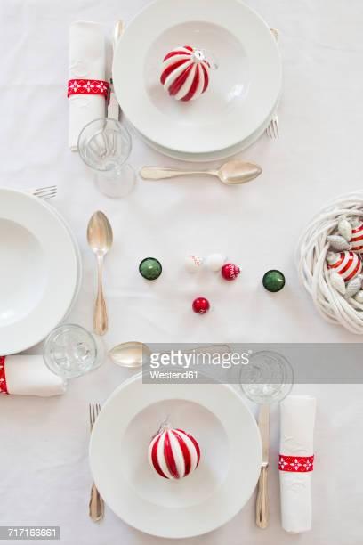 Festive laid table