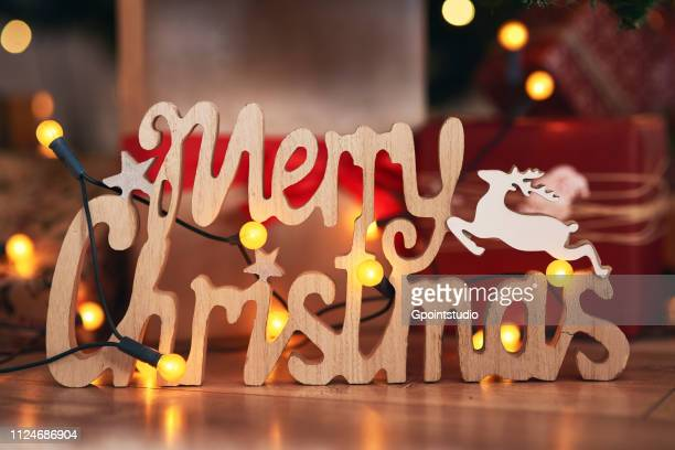 Festive Merry Christmas sign