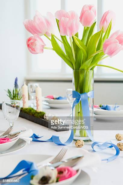 Festive spring place settings