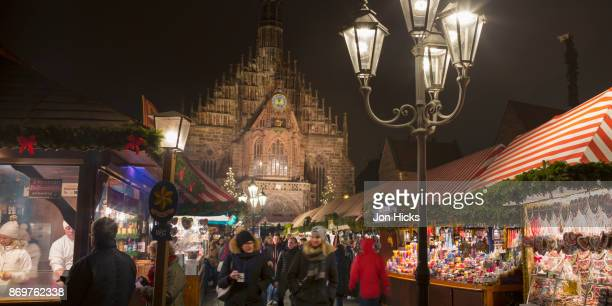 Festive stalls at the Nuremberg Christmas Market.