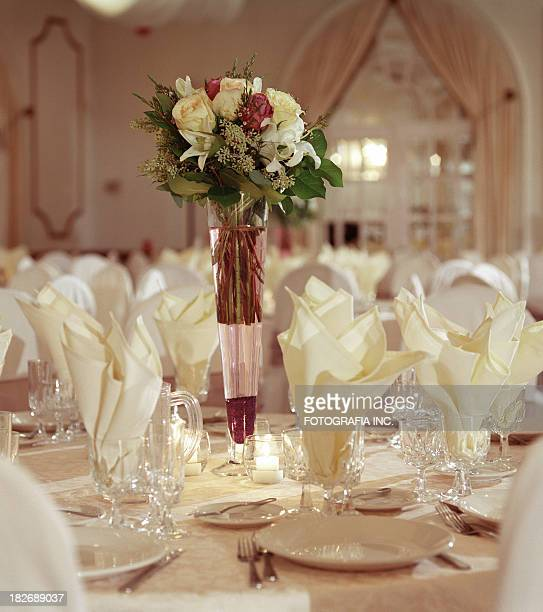 festive table - banquet hall stock pictures, royalty-free photos & images