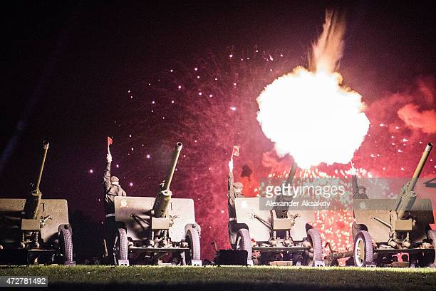 A festive volley of antiaircraft guns during celebrations marking the 70th anniversary of the victory over Nazi Germany and the end of World War II...
