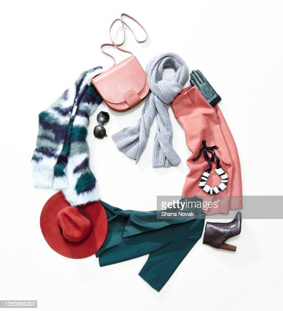 festive winter clothing - womenswear stock pictures, royalty-free photos & images
