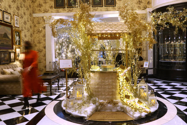 GBR: The Savoy Hotel Christmas Decorations