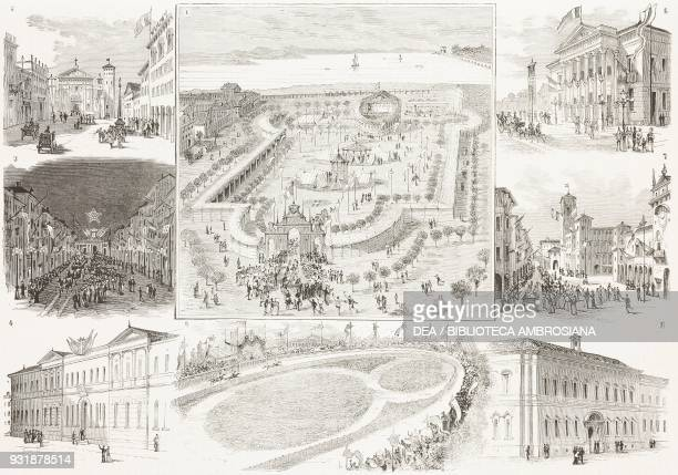 Festivities and and exhibitions in Mantua for the arrival of King Umberto I and Queen Margherita of Savoy 1 Agricultural Exhibition in Virgiliana...