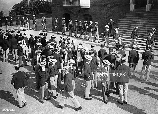 Festivities at the end of term in Harrow School England Photograph June 5th 1934 [Feierlicher Schulschluss in der Harrow School England...
