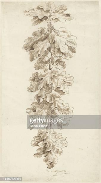 Festoon of oak leaves Jacob Hagen 1770