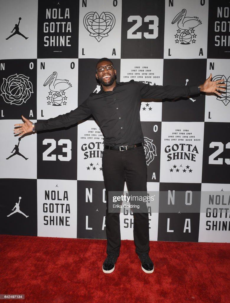 Festus Ezeli of Portland Trail Blazers attends Jordan Brand: 2017 All-Star Party at Seven Three Distilling Co. on February 17, 2017 in New Orleans, Louisiana.