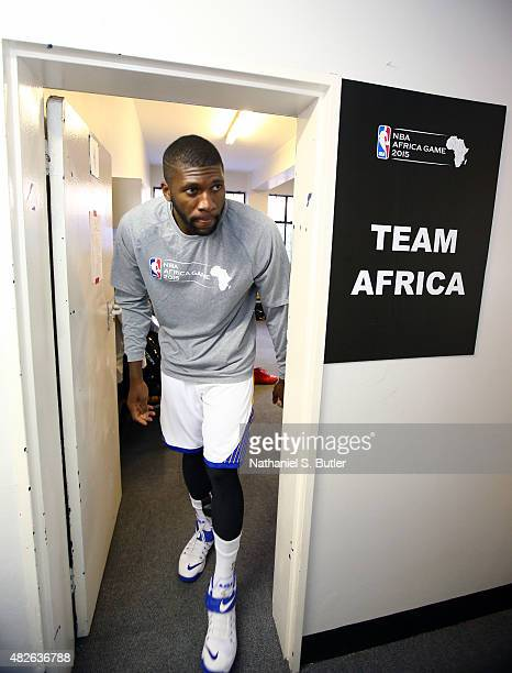 Festus Ezeli of Team Africa prior to the NBA Africa Game 2015 as part of Basketball Without Borders on August 1, 2015 at the Ellis Park Arena in...