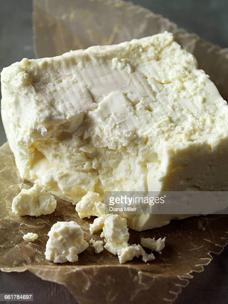 Feta cheese, close-up