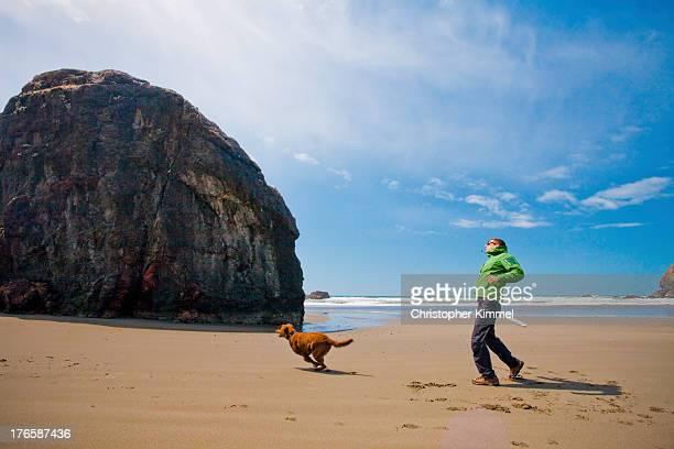 Fetch on the beach