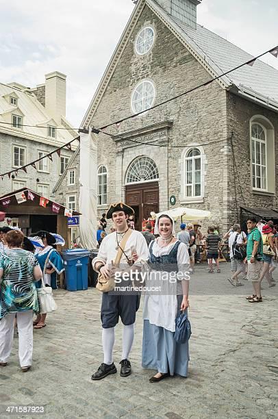 """fetes de la nouvelle-france, vieux-quebec. - """"martine doucet"""" or martinedoucet stock pictures, royalty-free photos & images"""