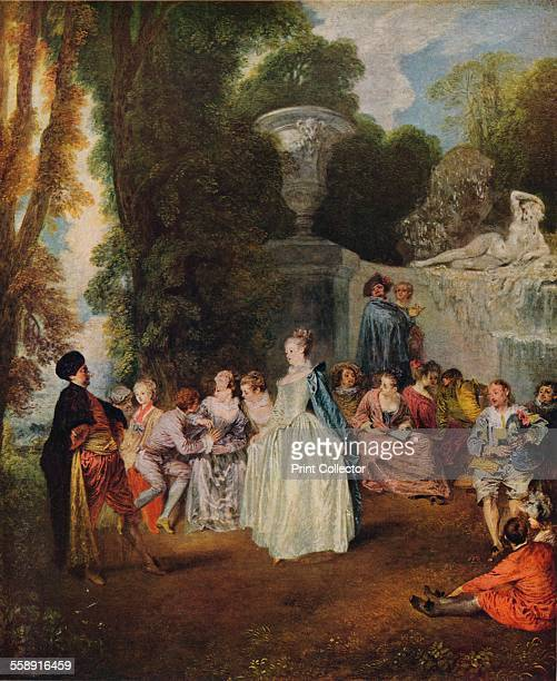 'Fetes Venitiennes' 17181719 Painting housed in the National Galleries Scotland From The World's Greatest Paintings edited by T Leman Hare [Odhams...