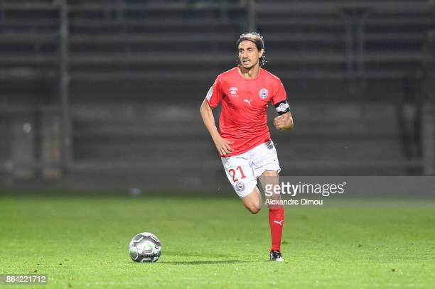 Fethi Harek of Nimes during the Ligue 2 match between Nimes Olympique and Stade Brestois at on October 20 2017 in Nimes France