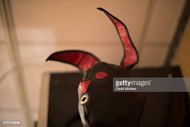 A fetish mask is displayed at the domination convention DomCon LA on May 16 2015 in Los Angeles California The annual convention which was started in...