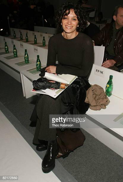 Fetneh Blake attends the Jeffrey Chow Fall 2005 fashion show during the Olympus Fashion Week at Bryant Park February 10 2005 in New York City